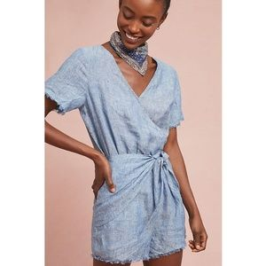 Anthropologie Sanctuary Montana Tie Front Romper